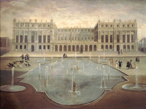 Versailles before the addition of the Hall of Mirrors