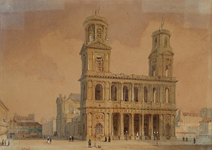 Villier painting of St. Sulpice