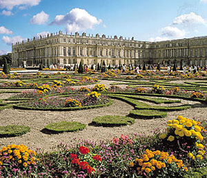 Versailles as it looks today from the gardens